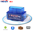 2017 Top-Rated Super Mini ELM327 Bluetooth OBD2 Scanner V2.1 ELM 327 Bluetooth For Multi-brands CAN-BUS Supports All OBD2 Model