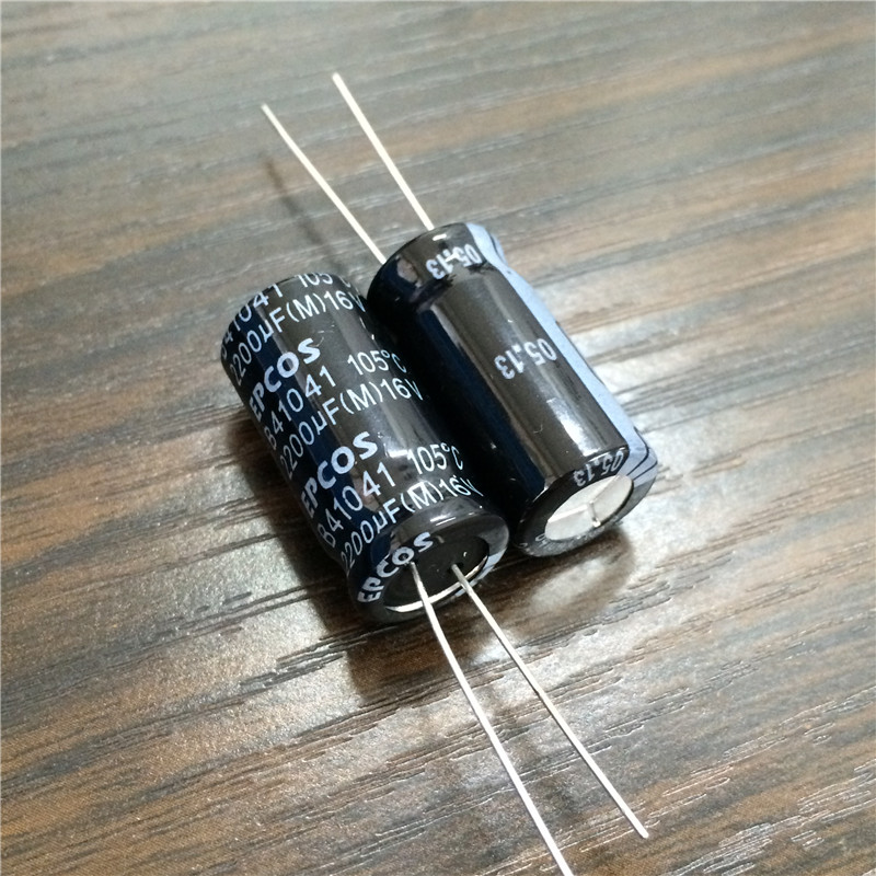 10pcs 2200uF 16V EPCOS B41041 Series 12.5x25mm Low Impedance 16V2200uF Aluminum Electrolytic Capacitor