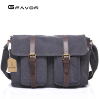 Retro Canvas Bag High capacity Crossbody Bags Men's Travel Laptop Bag Fashion Gray/Khaki/Military Green Single Shoulder Bag