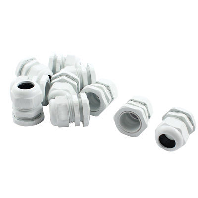 10Pcs Waterproof Gland Connector PG21 w Nut for 13-18mm Dia Cable Wire