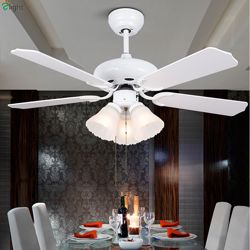 Modern Simple Wood Leaf Dimmable Led Ceiling Fans Lights Lustre Glass Dining Room Led Ceiling Fan Lamp Led Ceiling Fan Fixtures