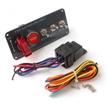 12V 30A Racing Car Ignition Switch Panel Engine Start Push Button LED Toggle все цены