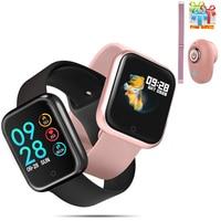 P70 smartwatch feminino ip68 à prova dip68 água monitor de freqüência cardíaca pressão arterial oxigênio esporte fitness rastreador pulseira masculino p68 relógio inteligente|Relógios inteligentes| |  -