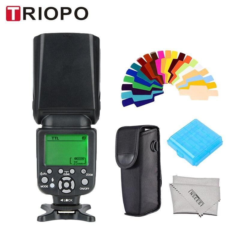 TRIOPO TR-988 TTL Caméra Flash Flash Professionnel Speedlite Flash avec Synchronisation Haute Vitesse pour Canon Nikon Appareil Photo REFLEX Numérique