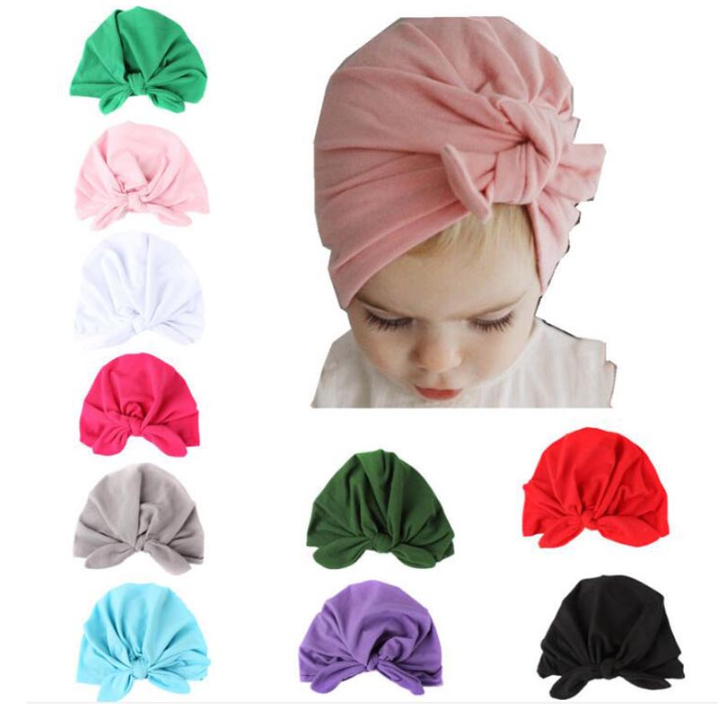 Winter Spring Summer Autumn New Baby Supplies Baby Rabbit Ears Tie Sets of Baby Hats Ind ...