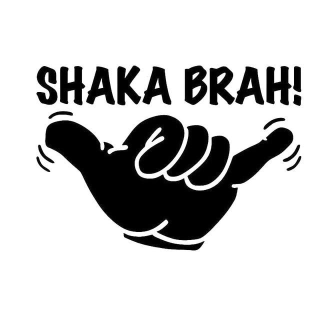 14cm9 9cm shaka brah hawaii aloha surf car sticker and decals motorcycle car styling