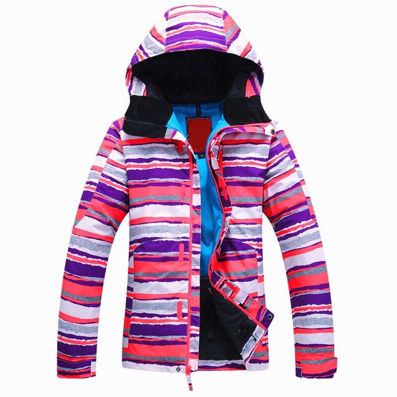 EntrüCkung Professionelle Frauen Ski Jacke Winter Outdoor Sport Snowboarden Mantel Warme Wasserdicht Atmungsaktiv Snowboard Neue Skifahren Jacken Skijacke