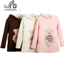 3-10years Long Sleeve sweatshirt hoodies coat thickened baby kids children girls boys Clothes Infant spring autumn winter