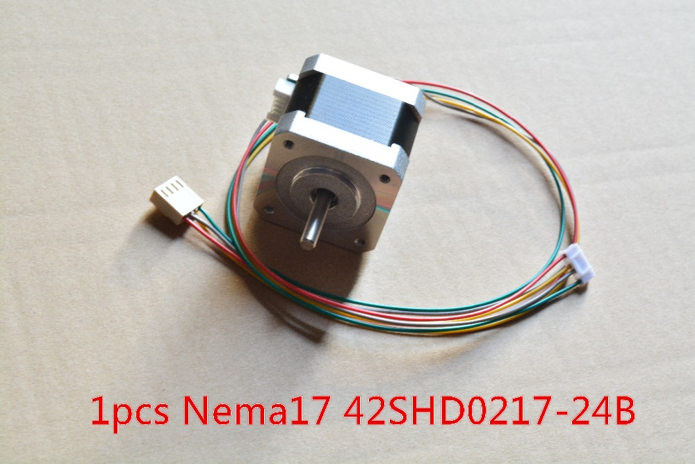 3d Print Stepper Motor Nema17 Hybrid Stepper Motor 1.5A 42x40mm For Mill Cut Cnc Engraving Machine 42SHD0217-24B 1pcs