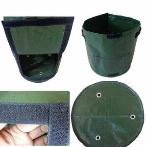 Image 5 - Plante végétale cultiver sac bricolage pomme de terre cultiver planteur PE tissu tomate plantation conteneur sac épaissir jardin Pot fournitures de jardin