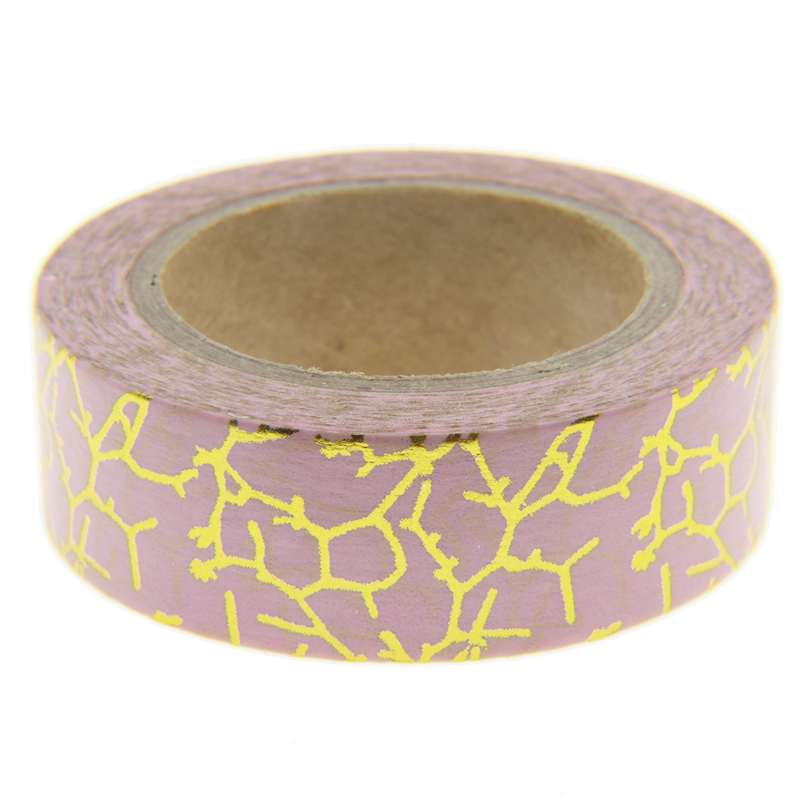Foil washi tape set japanese stationery scrapbooking for Tape works decorative tape