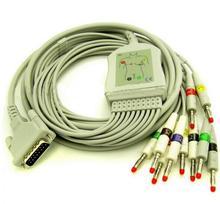 Darmowa Wysyłka Kompatybilny Dla 10 Odprowadzeń EKG Schiller/Kabel EKG IEC Banana 4.0mm AT3 AT6 CS6 AT5 AT10 AT60 Medyczne Kabli i Drutu