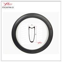 Дисковый тормоз Farsports FSL60 TM 23 Tubular 60 мм 23 мм катки обод с дисковый тормоз поверхности, 60 мм трубчатые углерода Велосипеды обода