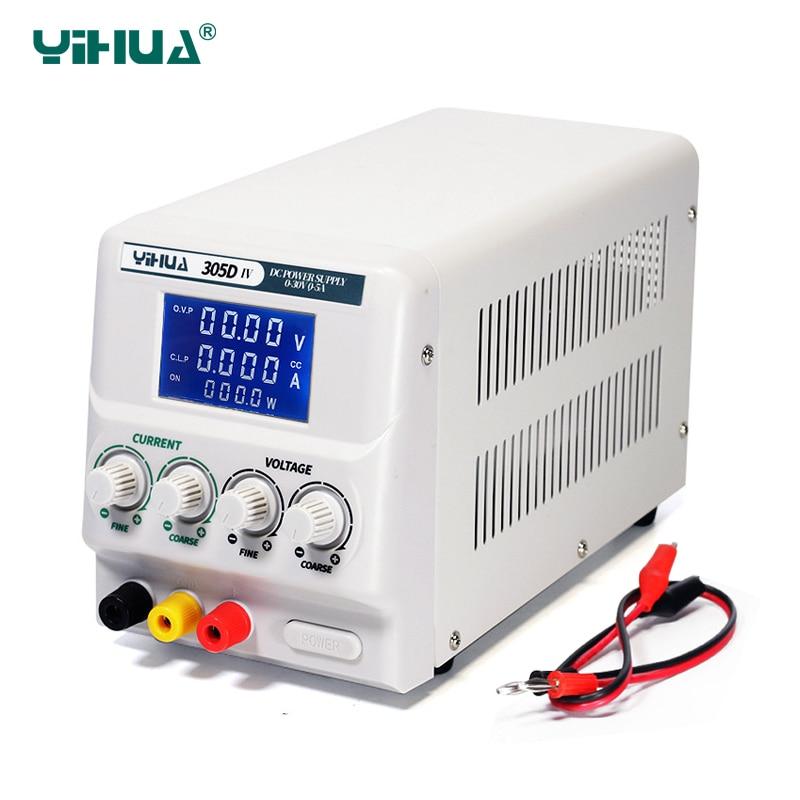 YIHUA 305D IV DC Power Supply Adjustable High Precision 4 Digital Display 30V 5A Voltage Regulators Mini Laboratory Power Supply