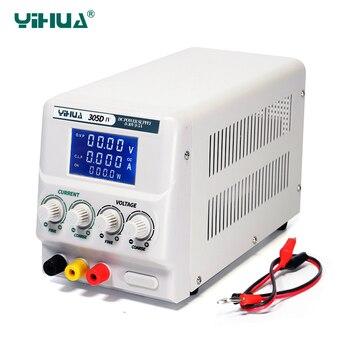 YIHUA-affichage numérique 305D-IV cc | 4 affichage numérique haute précision réglable 30V 5A régulateur de tension, Mini alimentation électrique de laboratoire