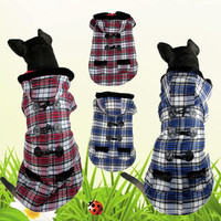 New Fashion Autumn Winter Dog Clothes Cotton Double Foot Thickening Warm Horns Buckle Dog Pet Clothes