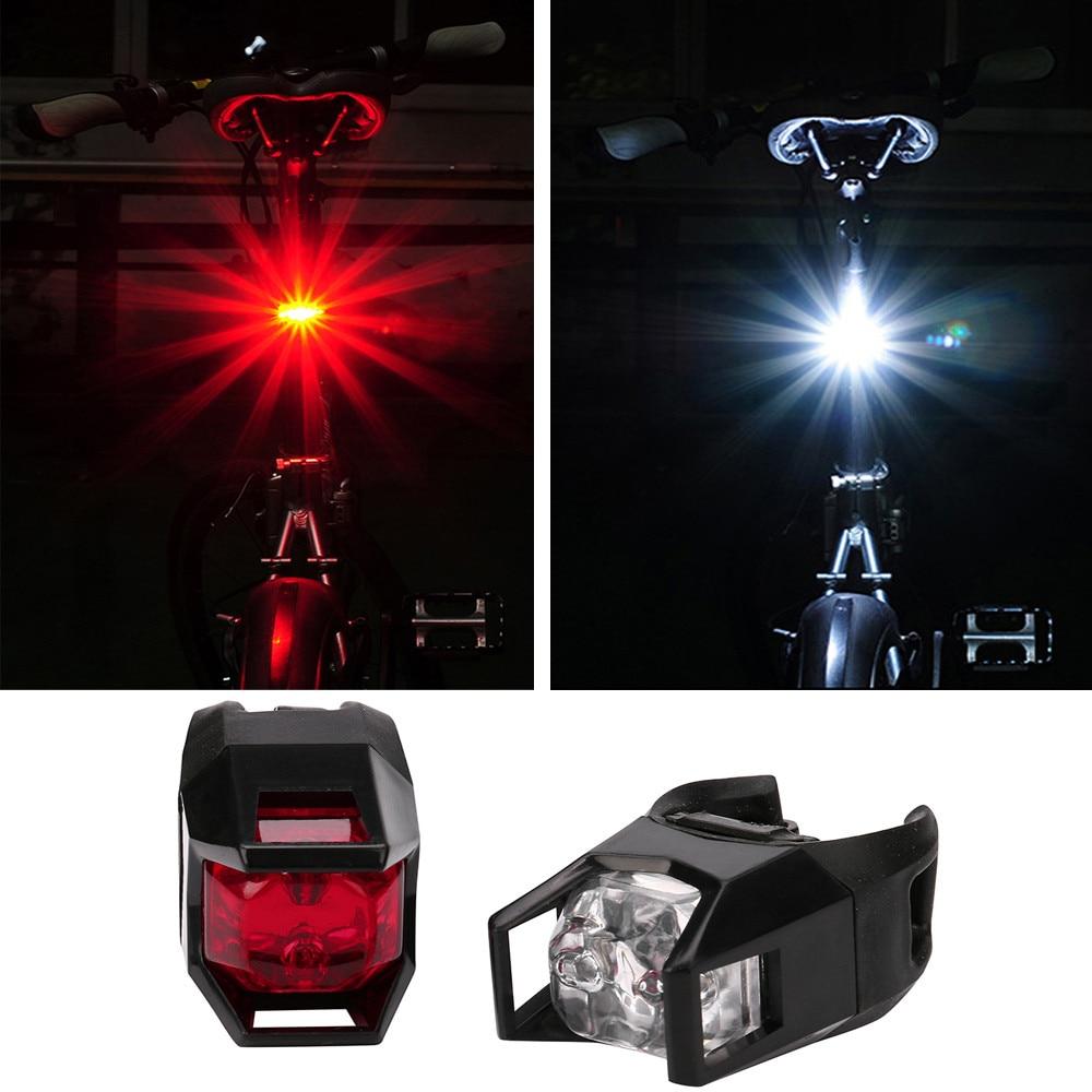 2PCS Bike Bicycle 5 LED Back Rear Tail Light Lamp Safety Flashing Warning Red