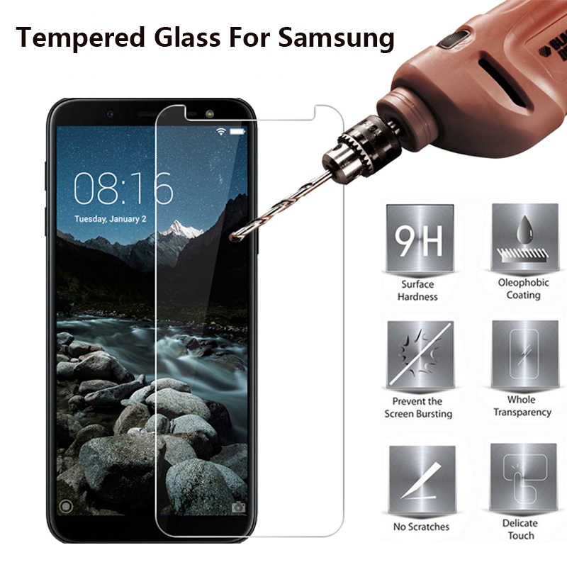 2.5D Tempered Glass on For Samsung Galaxy A10 A20 A30 A40 A50 A3 A5 A7 2016 Glass Screen Protectors For Samsung A6 Plus A7 2018