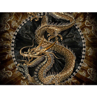 2016 New DIY Square Diamond Paintings Dragon Needlework For Home Decoration New Style Cross Stitch Embroidery