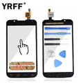 A+++ Black White For LG Optimus L7 II 2 Dual P715 Touch Screen Digitizer Front Glass Panel Parts Logo + Adhesive Free Shipping