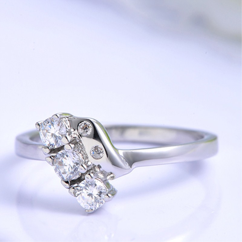 Silver Rings for Women Wedding Ring with Cubic Zirconia for Lovers Promise Engagement Ring Fashion Bridal Jewelry Bague Femme