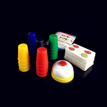 Children's Classic Card Toy Speed Cup Board Game Family Parent-child Interactive Game Children's Educational Toys factory direct wholesale billiard game billiards color matching cognitive parent child game desktop classic toys kids wood toys