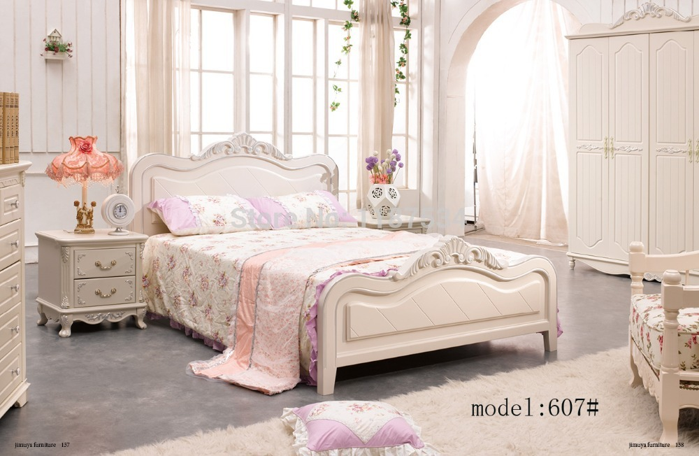 Modern home furniture bedroom set bed wardrobe nightstand desk bedroom furniture set