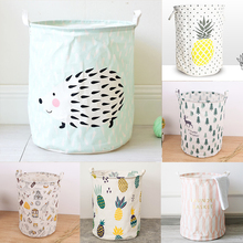 Large Waterproof Folding Laundry Basket Clothes Storage Barrel Standing Kids Toys Bucket Organizer