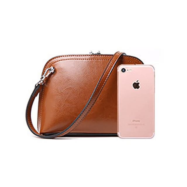 Luxy Moon Genuine Leather Bags Women's Handbag Shell Classic Oil Leather Women Wallet Purse Day Clutch Bag Shoulder Bags ZD679