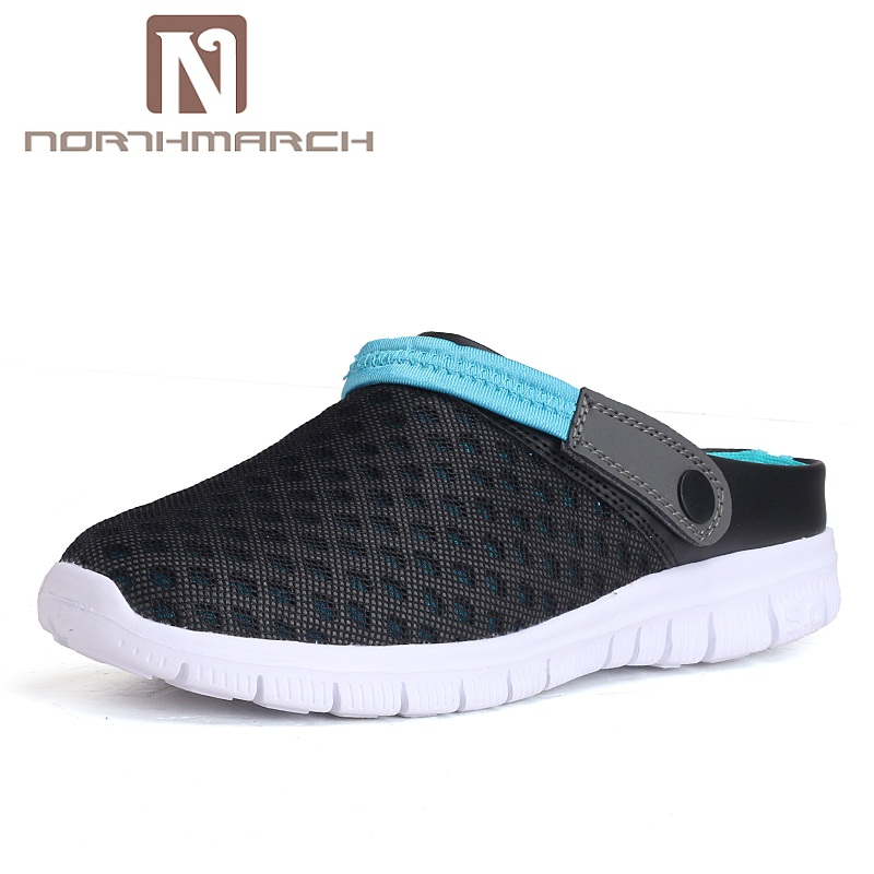 NORTHMARCH Men Summer Shoes Sandals New Breathable Beach Flip Flops Slip On Mens Slippers Mesh Lighted Unisex Shoes SapatosNORTHMARCH Men Summer Shoes Sandals New Breathable Beach Flip Flops Slip On Mens Slippers Mesh Lighted Unisex Shoes Sapatos