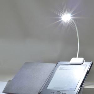 Новый 0,5 W Портативный лампа Гибкая мини клип на чтение светильник лампа для чтения для Amazon Kindle/чтения электронных книг/размером масссива фо...