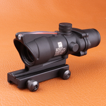 Trijicon ACOG 4 X 32 fibra fuente rojo iluminado Scope negro color Tactical Hunting telescópica