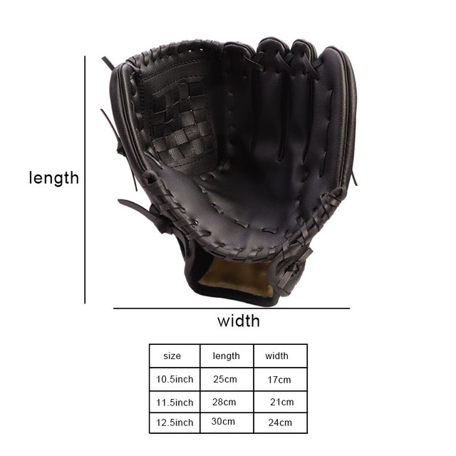 Outdoor Sports Three colors Baseball Glove  Softball Practice Equipment Size 10.5/11.5/12.5 Left Hand for Adult Man Woman Train 1