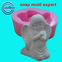 Great-Mold 3D Praying Angel Silicone Mold DIY Soap Mold Craft Mould