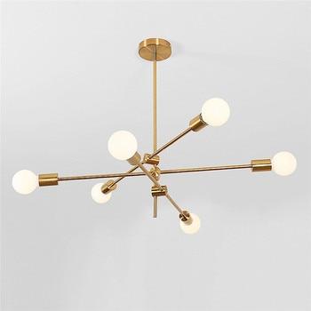 Modern Gold Branch Pendant Light E27 2 4 6 Heads Italian LED Hanging Pendant Lamp for Dining Room Kitchen Lustre Lighting E100