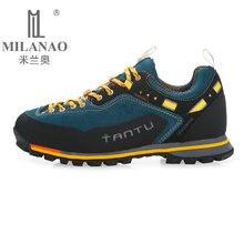 MILANAO 2017 Homem Impermeável Tênis Para Caminhada Respirável Sapatos Tamanho Grande Botas de Trekking Ao Ar Livre Sapatos Sapatilhas Dos Homens Do Esporte À Prova D' Água(China (Mainland))