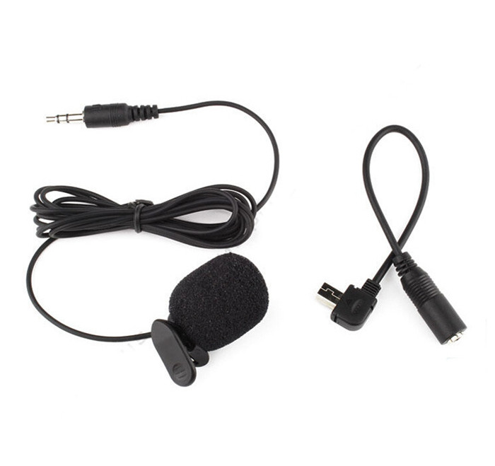 New Arrival Professional Stereo Microphone+3.5mm Microphone Adapter For Gopro Hero3/3+/4