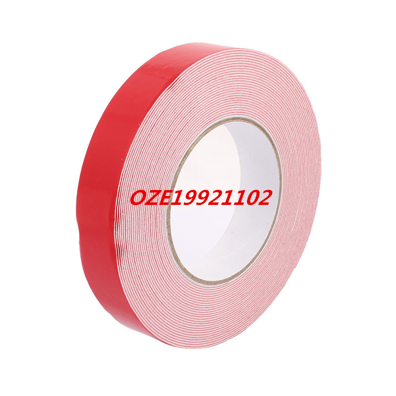 25mm x 1mm White Double Sided Self Adhesive Sponge Foam Tape for Car 10M Length 10m 40mm x 1mm dual side adhesive shockproof sponge foam tape red white