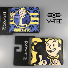 Hot Game Fallout 4 Vault Boy Character Short Wallet Anime Card Holder for Men and Women Birthday Christmas Gift