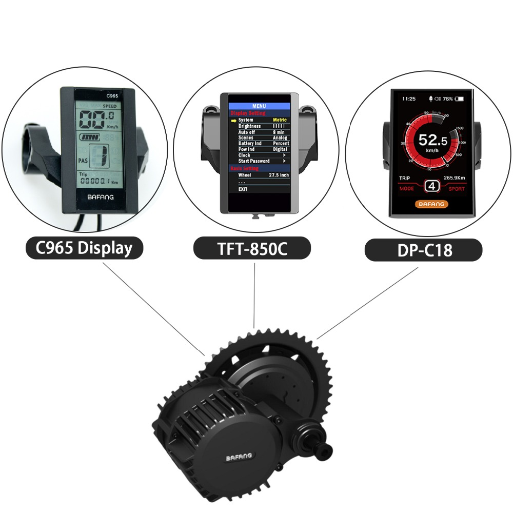Bafang Speedometer TFT-850C LCD Display DP-C18 Color Screen Display C965 Monochrome Screen Speed Indicator with USB Interface(China)