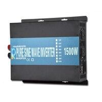1500w Pure Sine Wave Power Inverter Battery LED display Charger Off grid Solar Controller Car DC 12V 24V 48V to AC 120V 220V