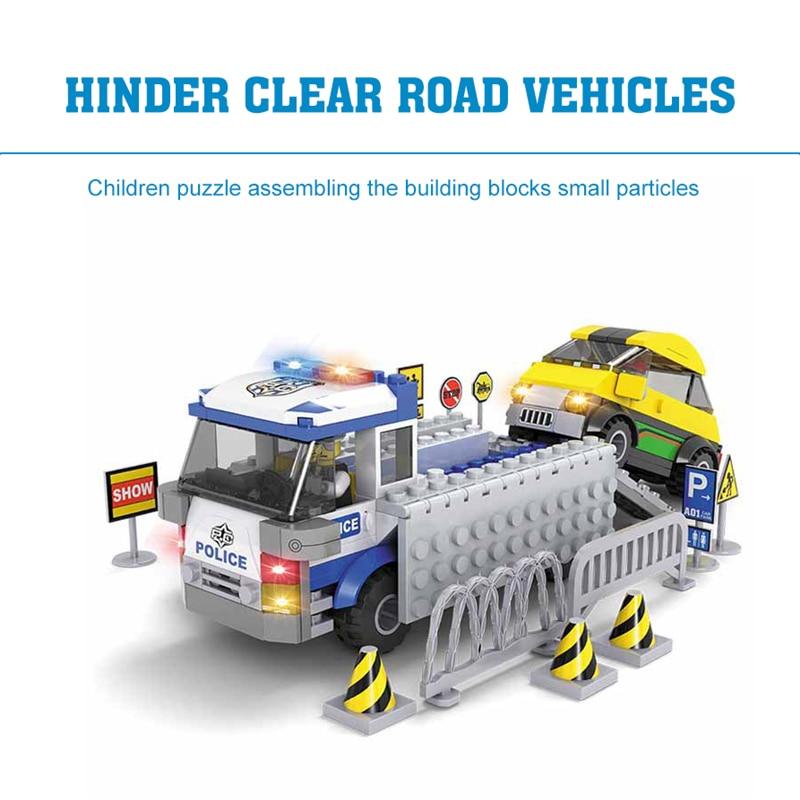ФОТО City Series Road Wrecker Building Blocks Children Educational DIY Plastic Building Blocks City 260PCS Compatible with Lego Block