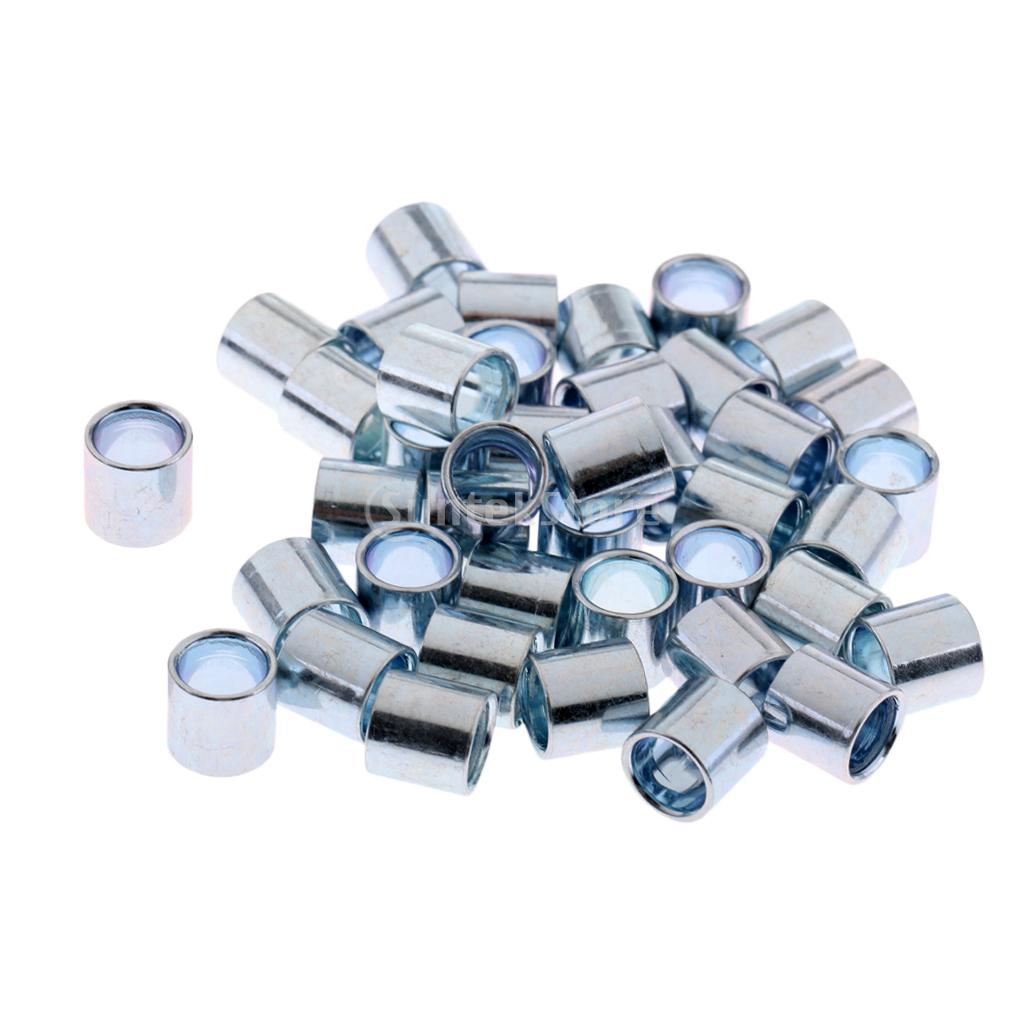 40 Pieces Sturdy Longboard Skateboard Bearings Spacers Hardware Accessories