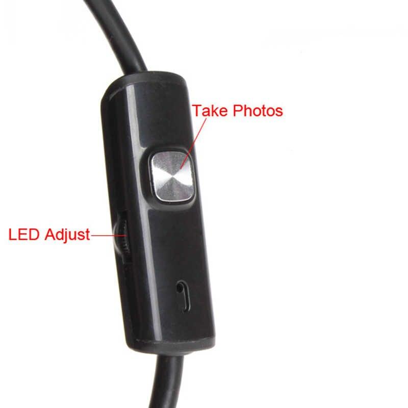 1 เมตร 5.5 เมตร/7 มิลลิเมตรเลนส์ Endoscope USB กล้องกันน้ำยืดหยุ่น Wire Snake Tube Borescope สำหรับ OTG ใช้งานร่วมกับโทรศัพท์ Android