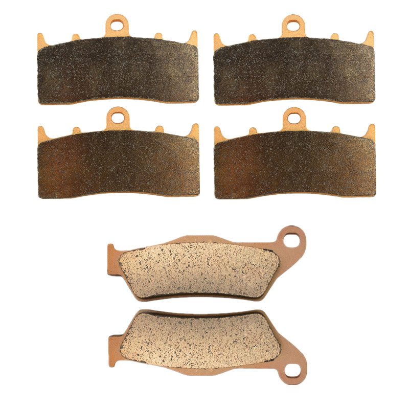 Motorcycle Parts Copper Based Sintered Motor Front & Rear Brake Pads For BMW R1200C R 1200C R1200 C Montauk 2004-2005 Brake Disk motorcycle parts copper based sintered brake pads for derbi gpr50 gpr 50 racing 2008 2010 front motor brake disk fa266