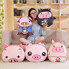 купить New Creative Cute Pig Plush Toys Stuffed Animal Pig Doll Toy Soft Plush Pillow Children Birthday Gifts Girls Gift по цене 1079.88 рублей
