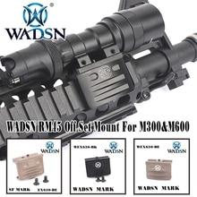 RM45 от набора крепление для M300 и M600 WADSN Airsoft Лару Тактический РАЗВЕДЧИК Смещение крепление для M300 M600 свет аксессуар WEX630