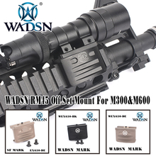 цена на WADSN RM45 Off Set Mount For M300&M600 WADSN Airsoft LaRue Tactical Scout Offset Mount For M300 M600 Light Accessory WEX630