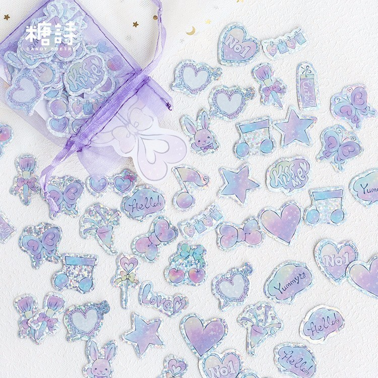 100PCS New Creative Girl Pink Children Stationery For DIY Albums Scrapbooking Diary Decoration Cartoon Depicting Stickers
