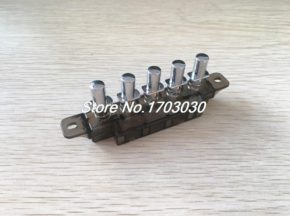 MQ165 AC 250V 4A 5 Pushbutton Piano Type Key Board Switch for Range Hood